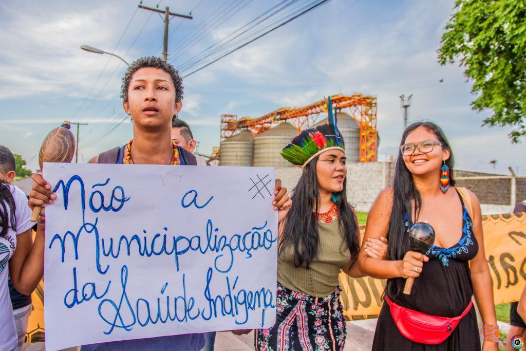 Ato Indígena Janeiro Vermelho | Foto: Israel Campos