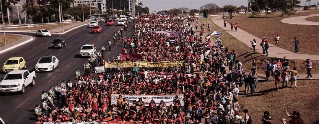 A marcha em defesa da Mãe Terra