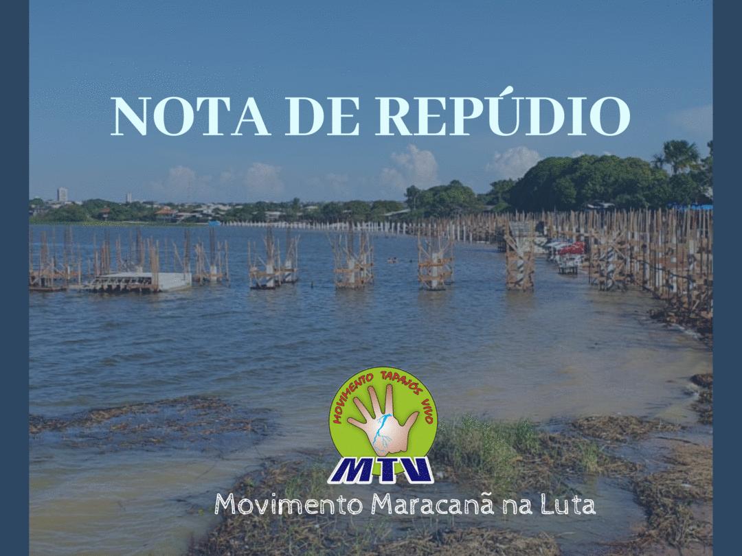 Nota de repúdio contra a destruição da praia do Maracanã
