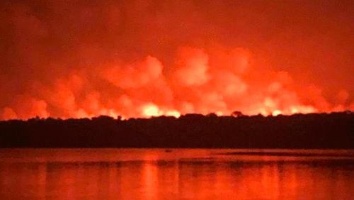 Incêndio florestal na savana de Alter do Chão, Ponta de Pedras e Pindobal
